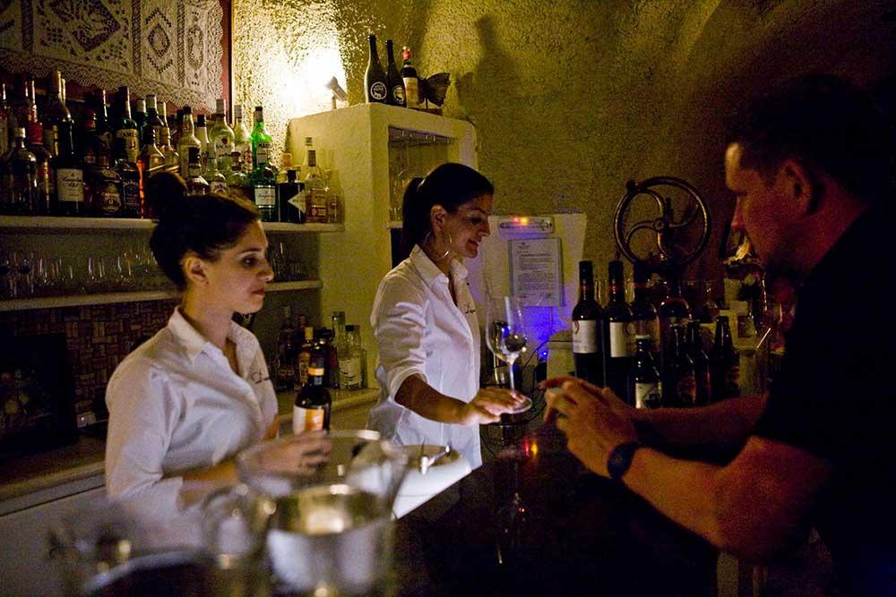 The Wine Bar at night