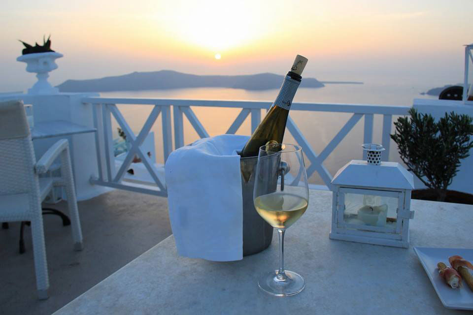 Enjoy a glass of wine at The Wine Bar terrace