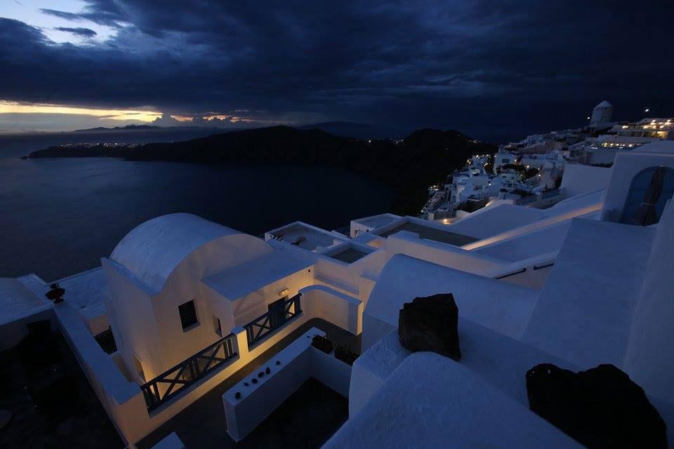 After sunset - dusk - lights