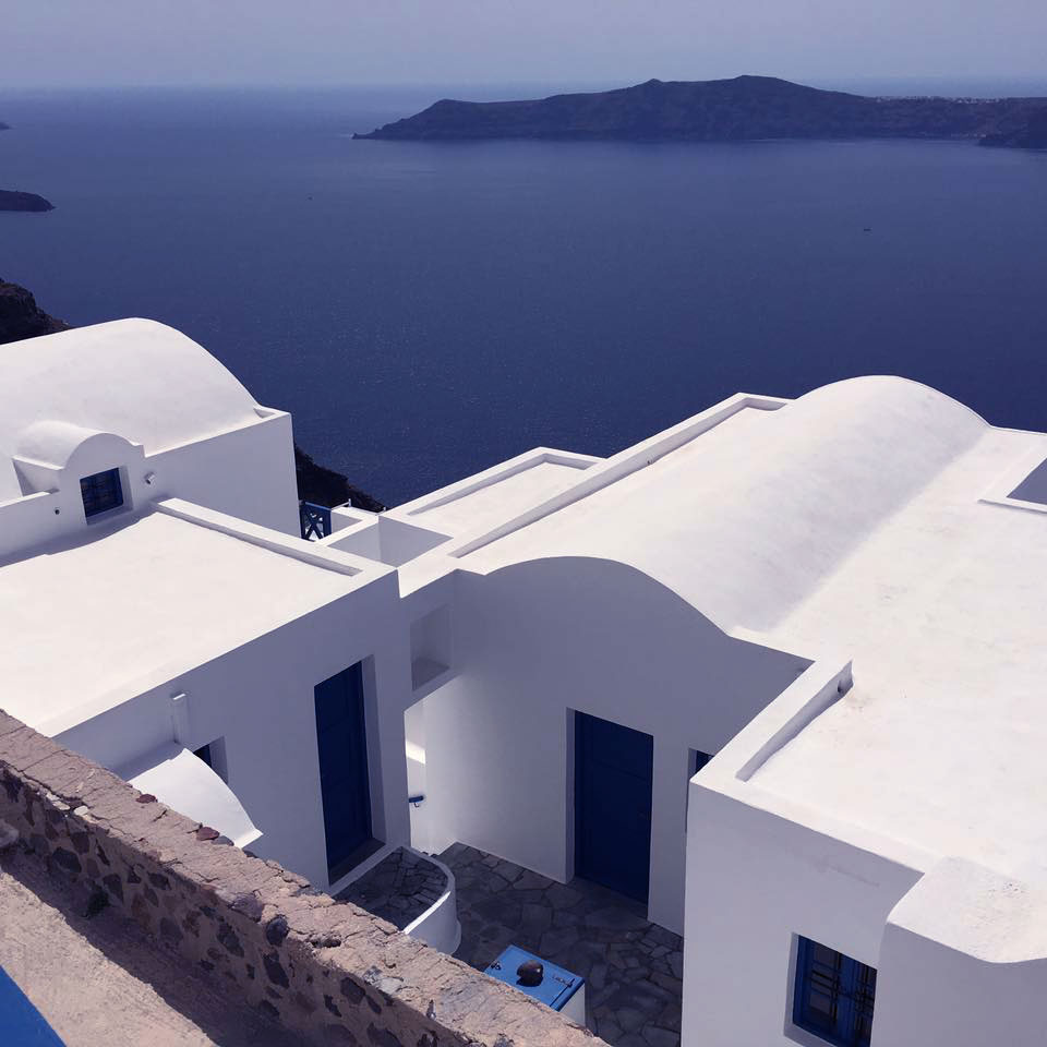Traditional Architecture - White and Blue